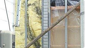 壁内結露対策ができていない建物は断熱材の中にカビが発生します