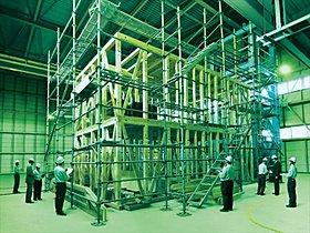 民間では最大規模となる3階建ての実大構造実験装置を自社設置