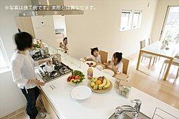 対面キッチン:施工例写真