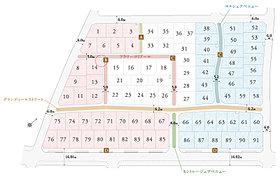 ゆとりある全91邸の街並み。