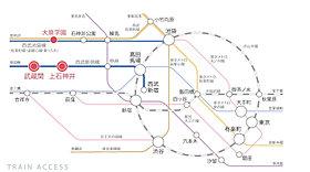 3駅2路線利用で都心の主要部へのアクセスも快適。