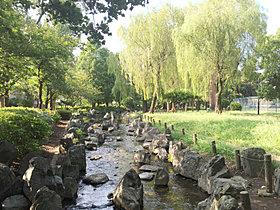 周辺には緑豊かな公園が点在する住環境。