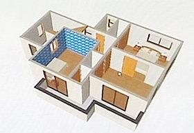 3D設計図面!家をイメージし易いと好評です。