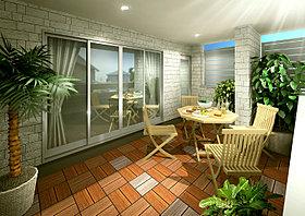 開放的な眺望を我が物にできる贅沢を享受できる屋上バルコニー
