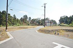 アクセントのある分譲地内道路