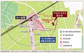 駅徒歩6分ながら、「第1種住居地域」に位置し、閑静な住宅街
