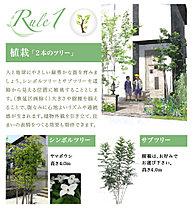 植栽「2本のツリー」