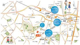 3駅利用できる交通の便の良さが魅力の街です。