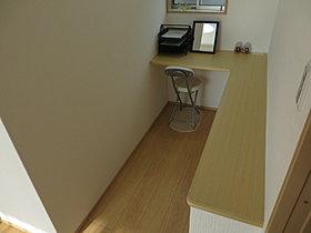 主寝室に収納力抜群のウォークインクローゼット設置。