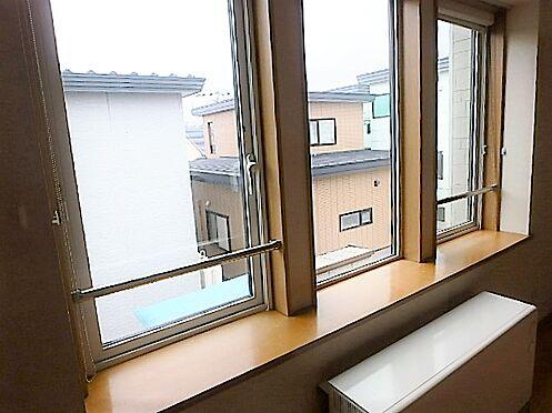 アパート-帯広市西十七条南5丁目 202居間出窓 設備改善:横引きスライド網戸