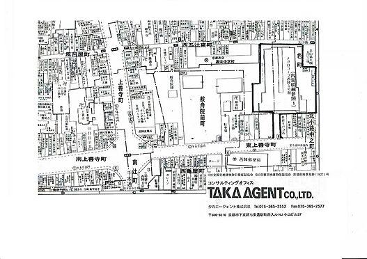 店舗(建物一部)-京都市上京区一色町 地図