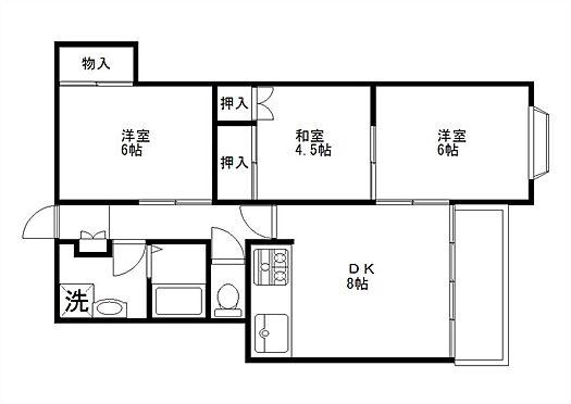 マンション(建物全部)-佐野市朝日町 3DK