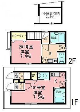アパート-江戸川区北小岩7丁目 京成本線「京成小岩」駅 一棟売アパート 間取り図
