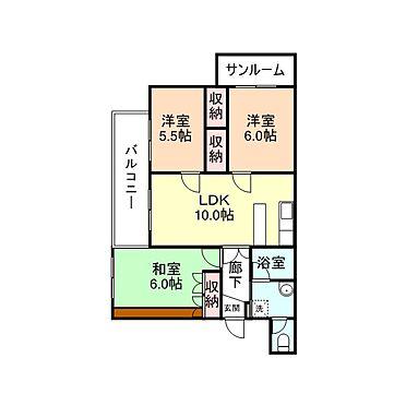 マンション(建物全部)-高岡市丸の内 間取り