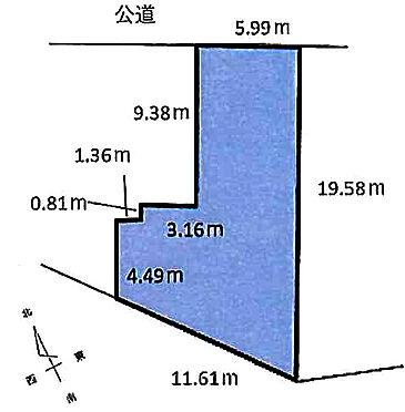 土地-川崎市川崎区貝塚2丁目 区画図