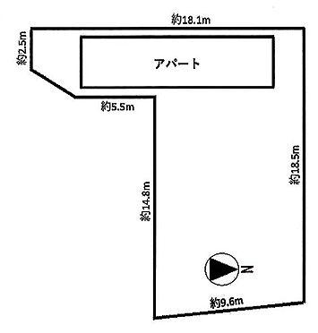 土地-品川区大井4丁目 区画図