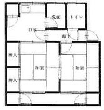 マンション(建物一部)-豊橋市大岩町字久保田 間取り