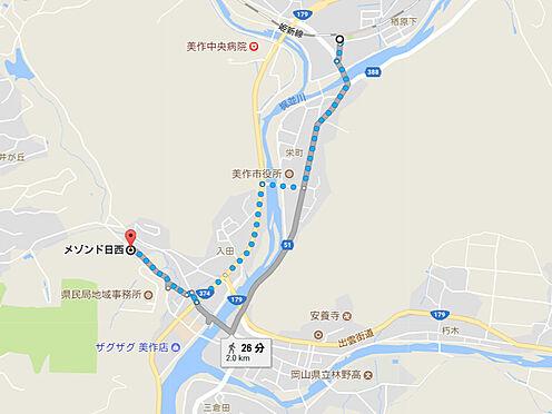 アパート-美作市入田 周辺地図