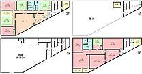 東海道本線「鴨宮」駅 一棟売ビル 間取り図