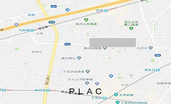 マンション(建物全部)-世田谷区大原1丁目 地図