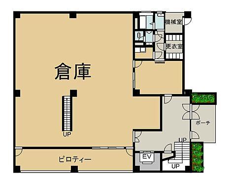 ビル(建物全部)-新宿区北新宿4丁目 1階 間取り図