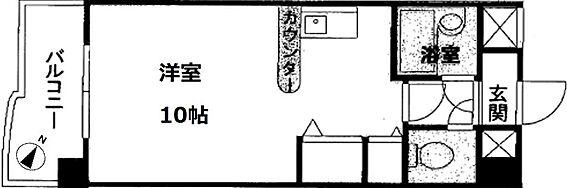 マンション(建物一部)-熊本市中央区新屋敷2丁目 間取り