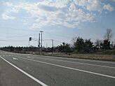潟上市庁舎・道の駅天王方向に向かった、国道101号線の右側の土地です。