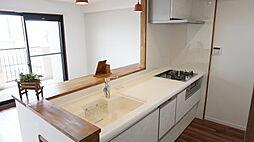 食洗機付きのキッチン。食後の時間にゆとりがもてます。