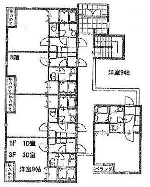 マンション(建物全部)-相模原市南区東林間4丁目 間取り