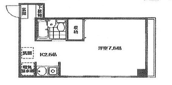 マンション(建物一部)-岡山市北区清輝橋3丁目 間取り