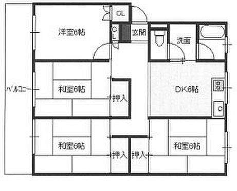 マンション(建物一部)-加古川市尾上町口里 間取り