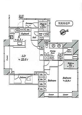 マンション(建物一部)-港区麻布台2丁目 間取り