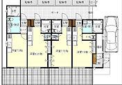 1Fです。各部屋には上部ロフトがついています。