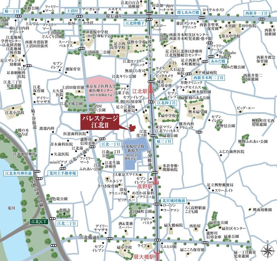 パレステージ江北II:案内図