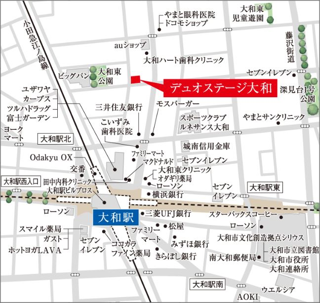 デュオステージ大和:モデルルーム地図