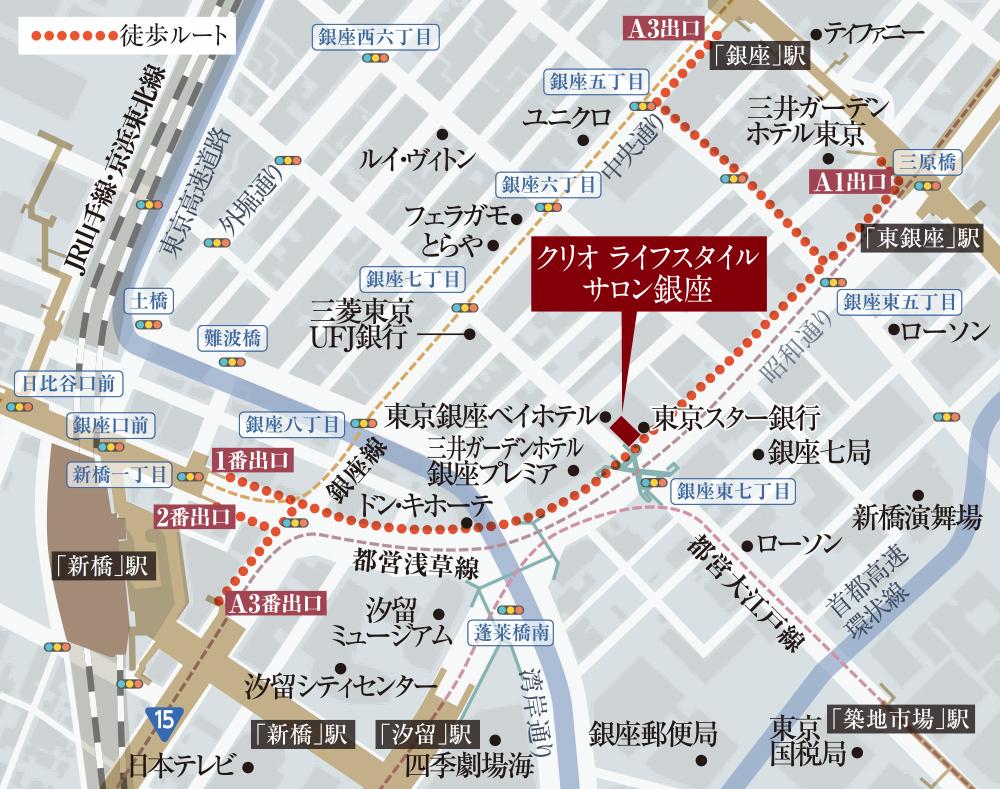 クリオ ラベルヴィ三ノ輪:モデルルーム地図