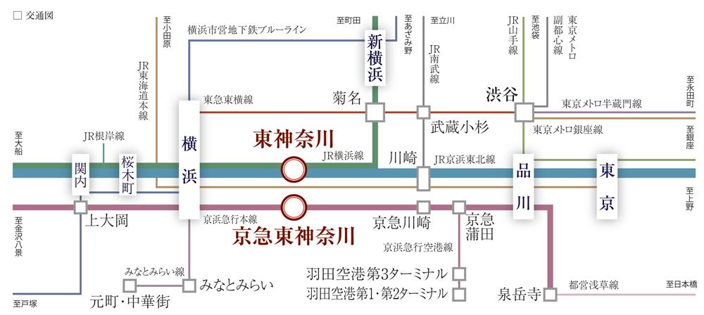 クリオ レジダンス横濱ベイサイド:交通図