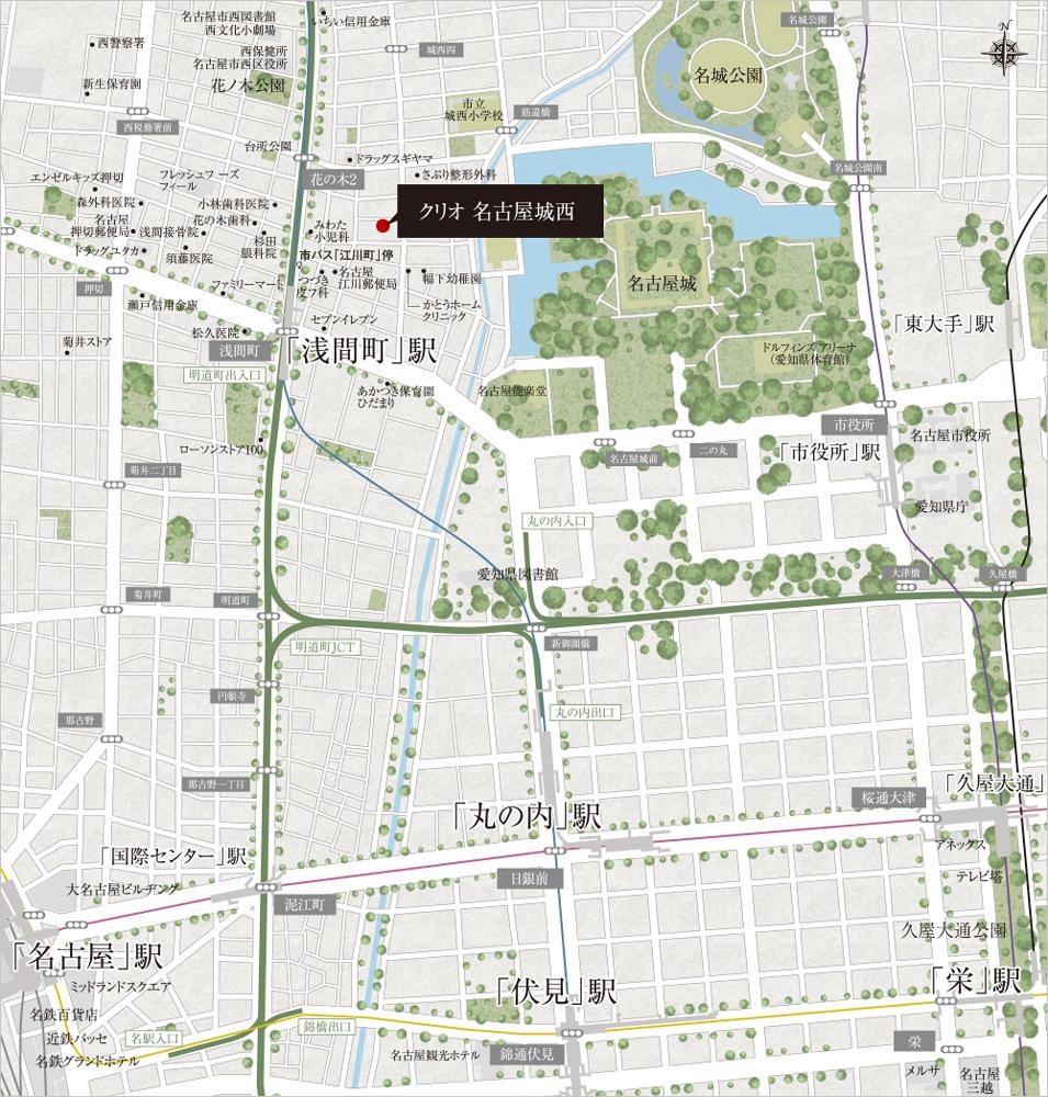 クリオ名古屋城西:案内図