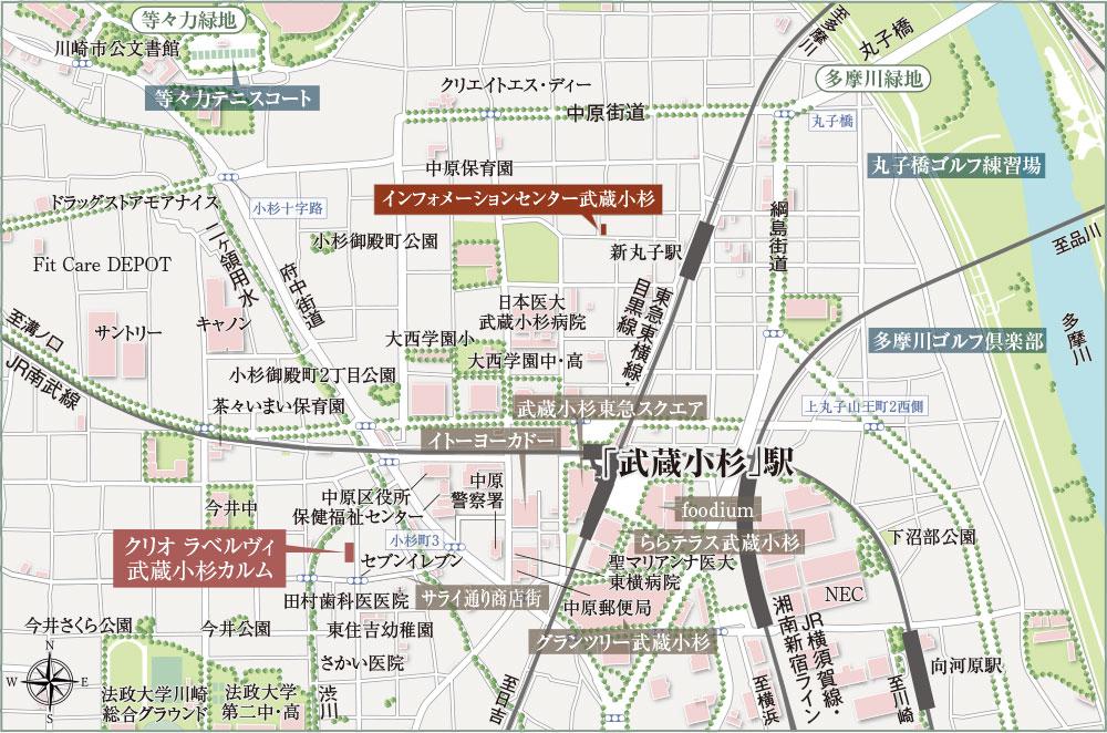 クリオ ラベルヴィ武蔵小杉カルム:案内図