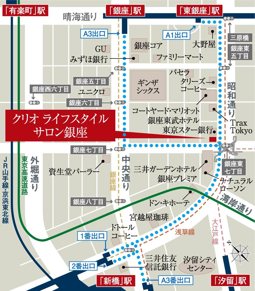 クリオ町屋ウエストマークス:モデルルーム地図