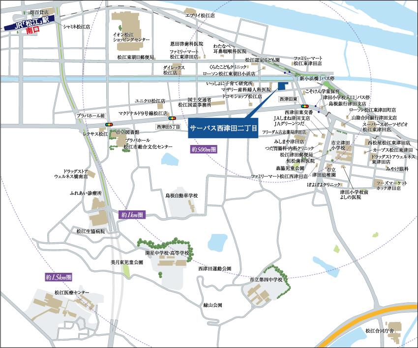 サーパス西津田二丁目:案内図