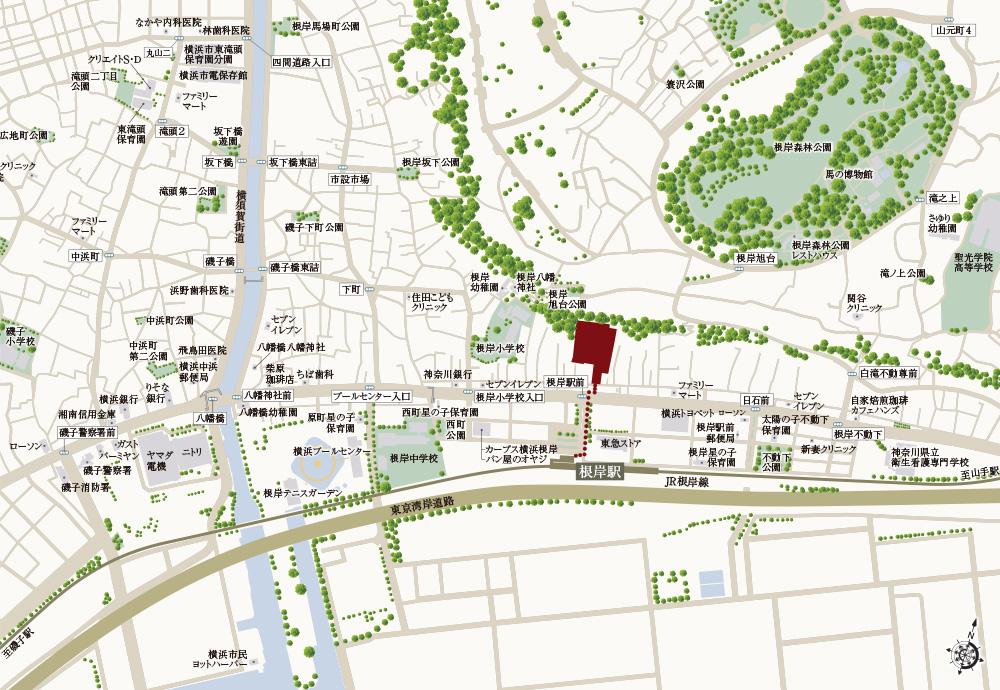 ヴェレーナシティ横浜根岸ザ・フロント:案内図