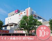 イオン南越谷店 約790m(徒歩10分)