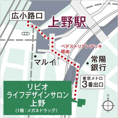 リビオレゾン新虎通り:モデルルーム地図