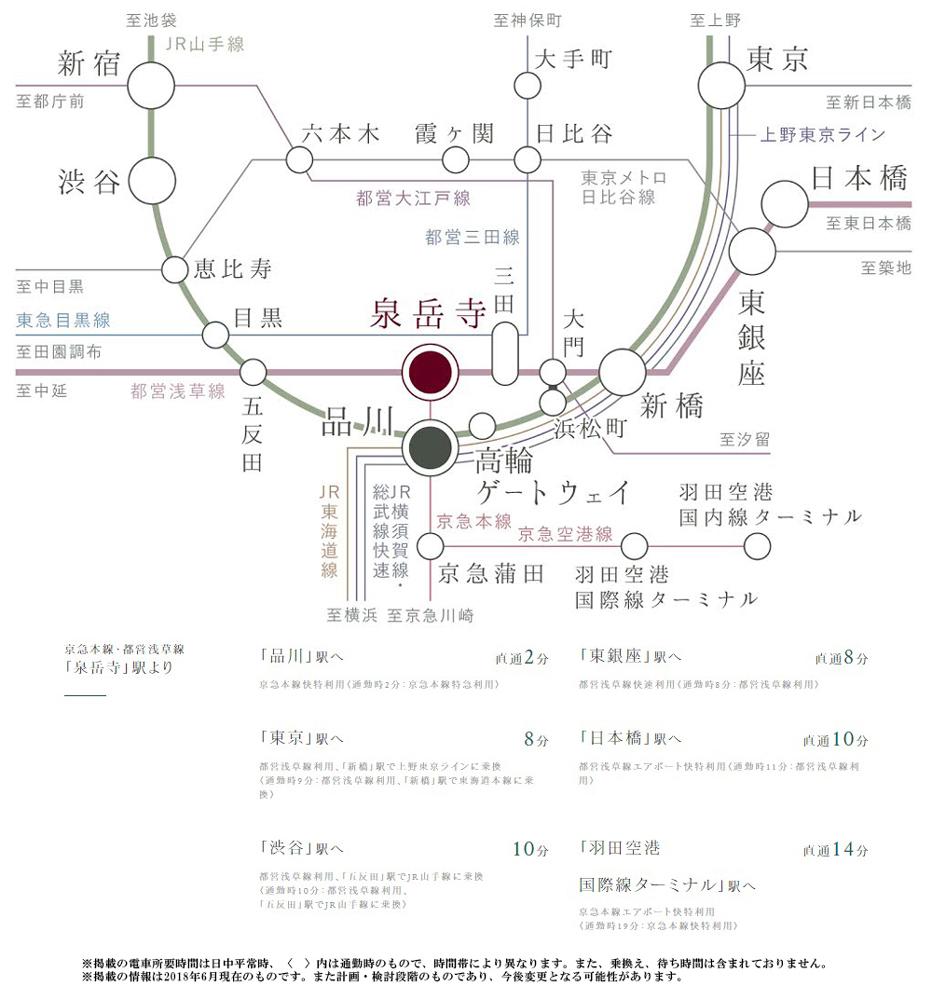 イニシア高輪プレシアスコート 第3期1次:交通図