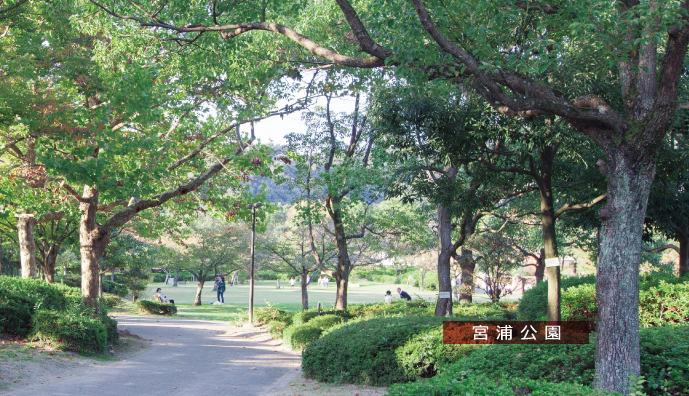 宮浦公園 約550m(徒歩7分)