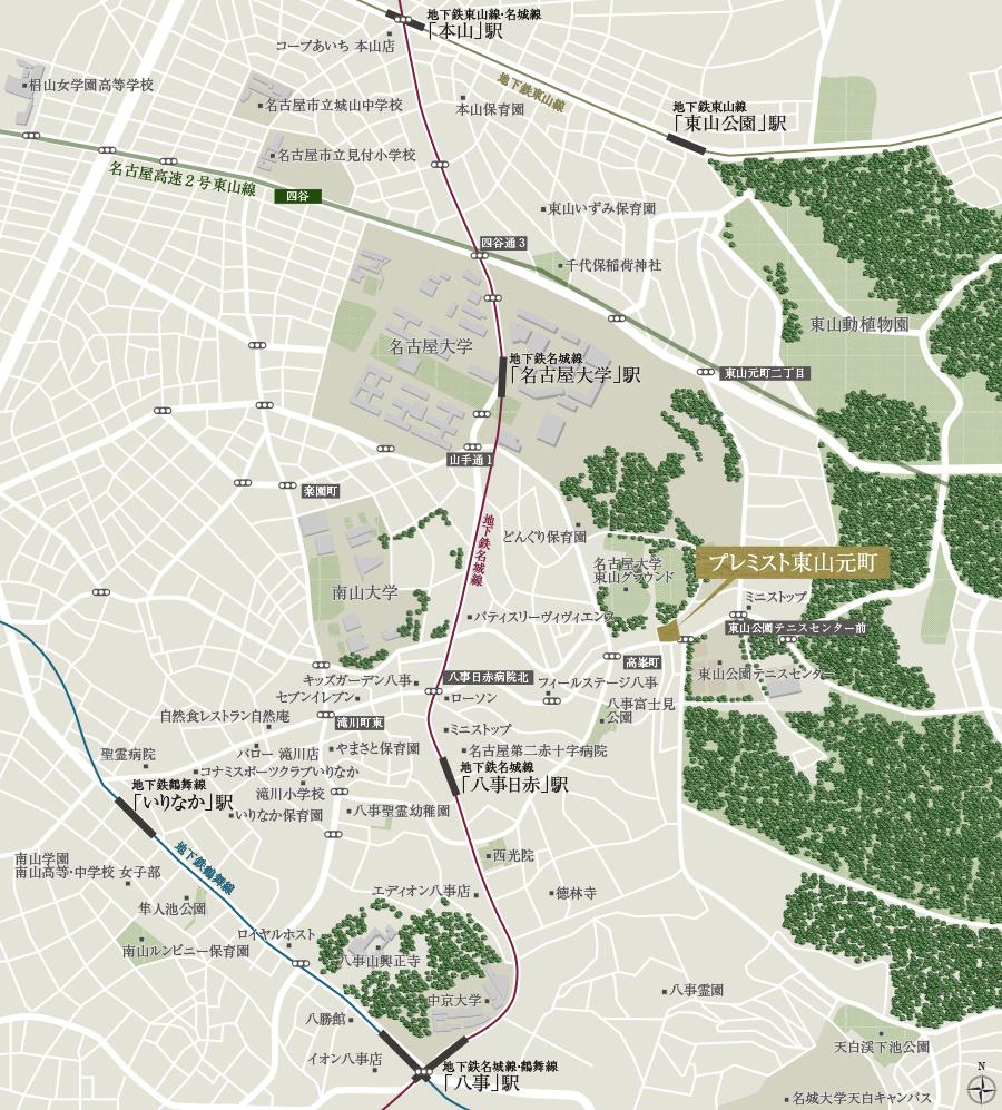 プレミスト東山元町:案内図