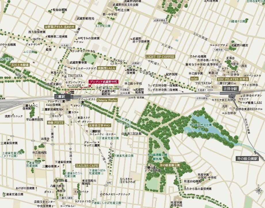 プレディア武蔵野中町:案内図