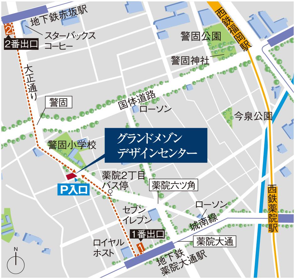 グランドメゾン百道1丁目:モデルルーム地図