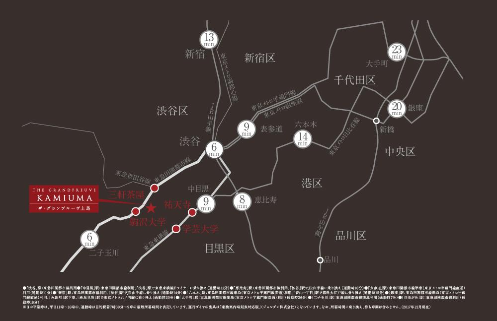 ザ・グランプルーヴ上馬:交通図